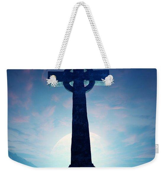 Celtic Cross With Moon Weekender Tote Bag