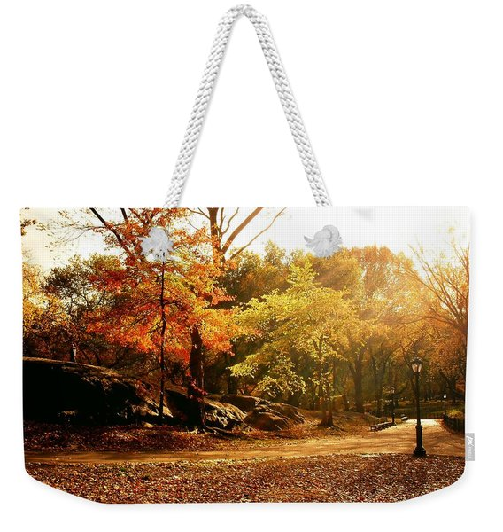 Central Park Autumn Trees In Sunlight Weekender Tote Bag
