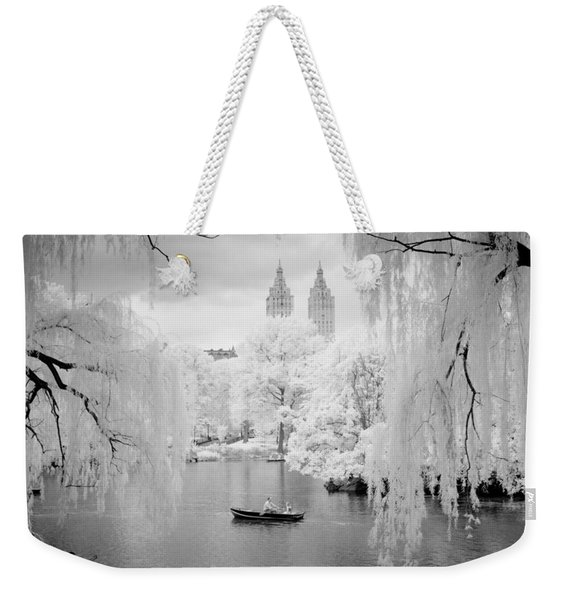 Central Park Lake-infrared Willows Weekender Tote Bag