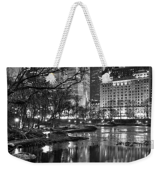 Central Park Lake Night Weekender Tote Bag