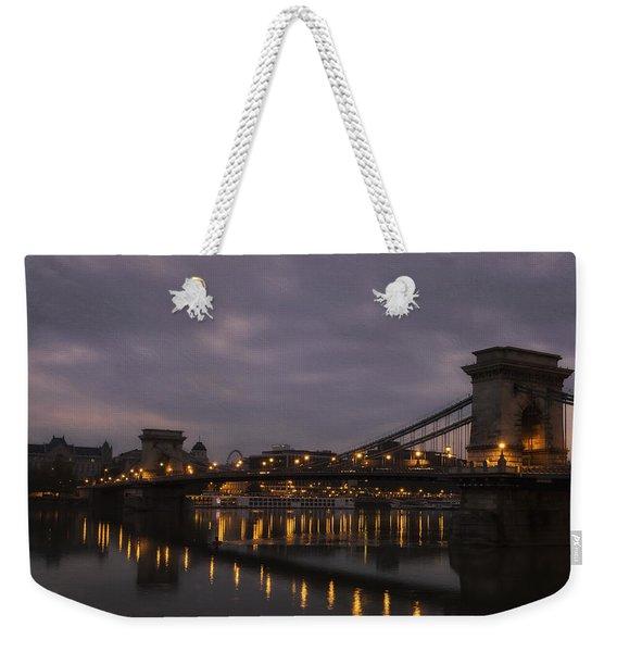 Chain Bridge Dawn Weekender Tote Bag
