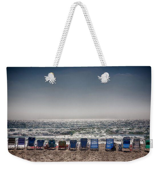 Chairs Watching The Sunset Weekender Tote Bag