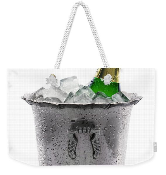 Champagne Bottle On Ice Weekender Tote Bag