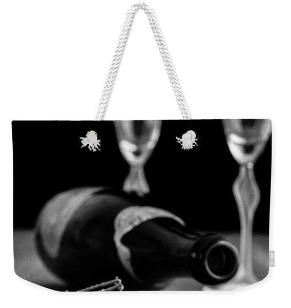 Champagne Bottle Still Life Weekender Tote Bag