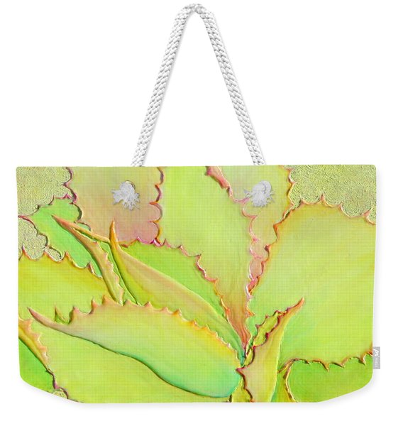 Weekender Tote Bag featuring the painting Chantilly Lace by Sandi Whetzel
