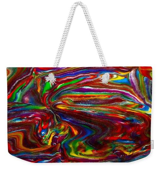 Chaotic Flow Weekender Tote Bag