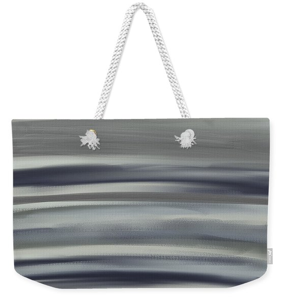 Charcoal And Blue Weekender Tote Bag