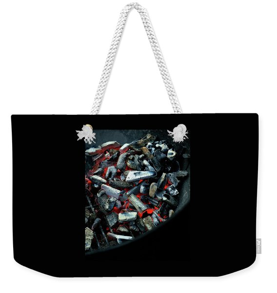 Charcoal On A Grill Weekender Tote Bag