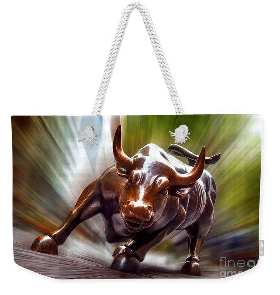 Charging Bull Weekender Tote Bag
