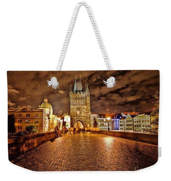 Charles Bridge At Night Weekender Tote Bag