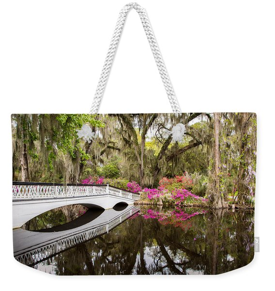 Charleston Garden Photo - Live Oaks And Azaleas Weekender Tote Bag