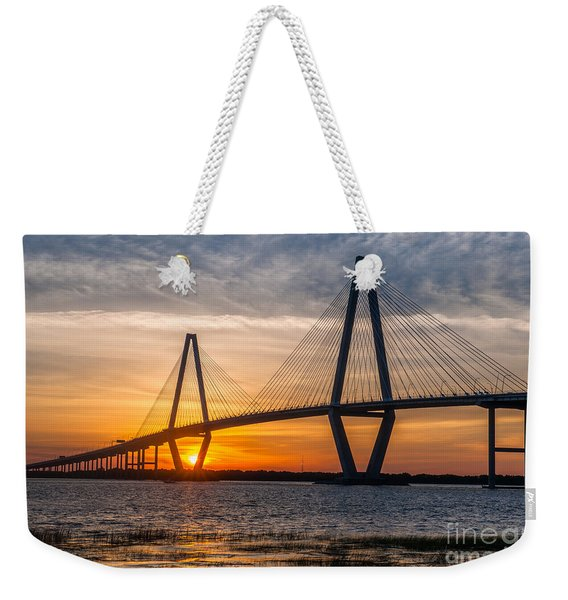 Charleston Sun Setting  Weekender Tote Bag