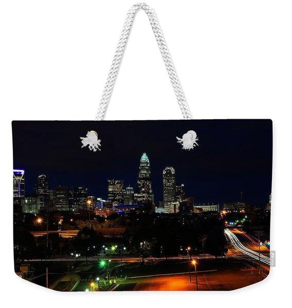 Charlotte Nc At Night Weekender Tote Bag