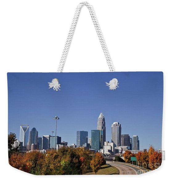 Charlotte North Carolina Weekender Tote Bag