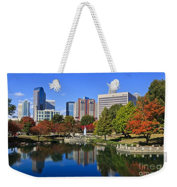 Charlotte North Carolina Marshall Park Weekender Tote Bag