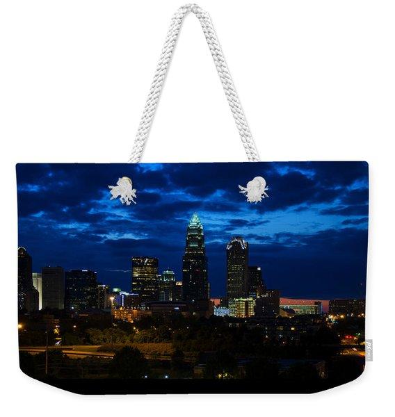 Charlotte North Carolina Panoramic Image Weekender Tote Bag