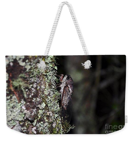 Charming Cicada Weekender Tote Bag
