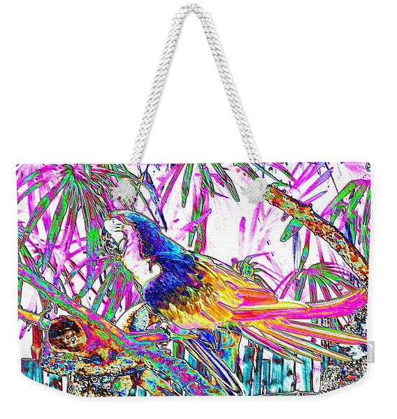 Cheerful Parrot. Colorful Art Collection. Promotion - August 2015 Weekender Tote Bag