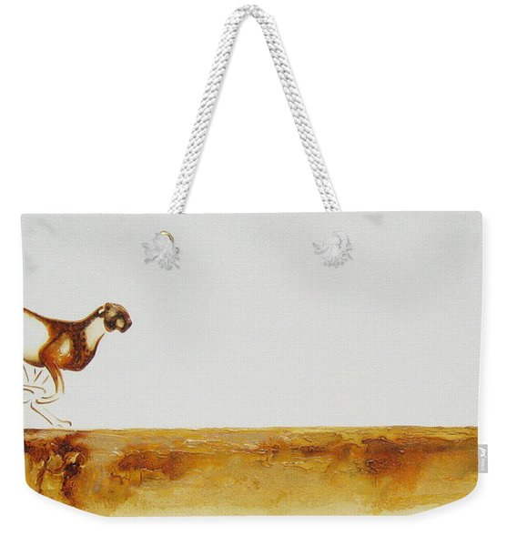 Cheetah Race - Original Artwork Weekender Tote Bag