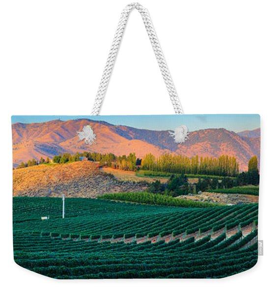 Chelan Vineyard Panorama Weekender Tote Bag
