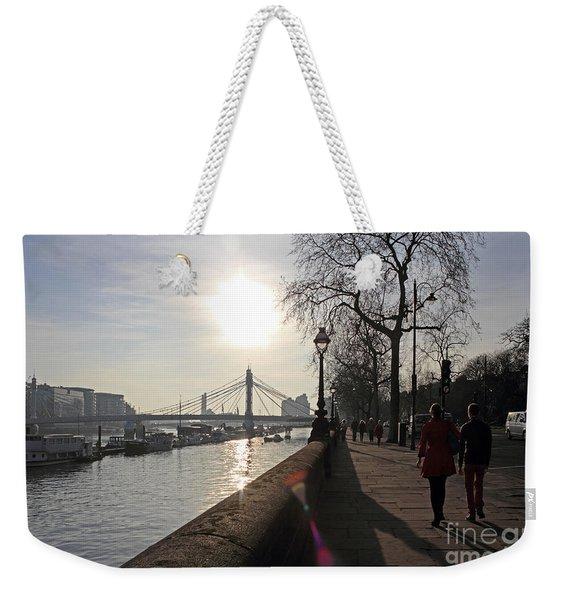 Chelsea Embankment London Uk Weekender Tote Bag