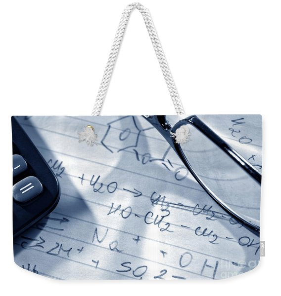 Chemistry Formulas Weekender Tote Bag