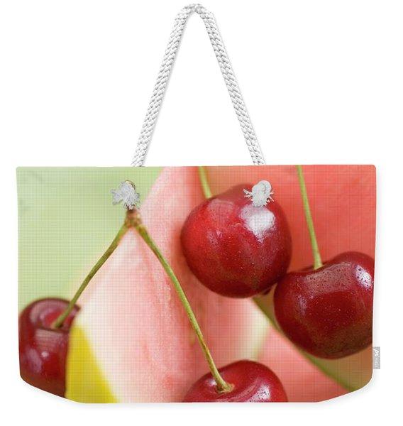 Cherries And Watermelon Weekender Tote Bag