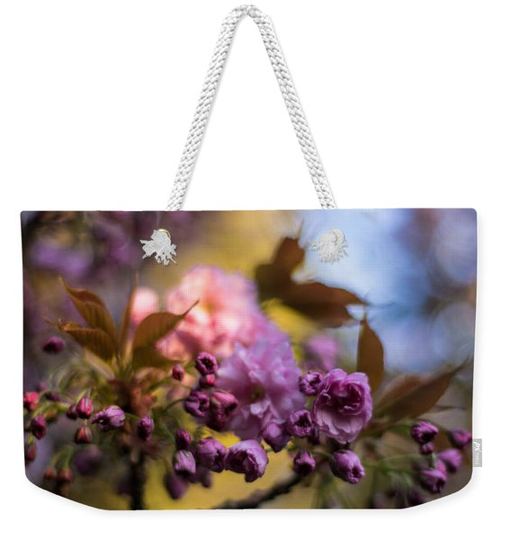 Cherry Blossom Blue Sky Weekender Tote Bag