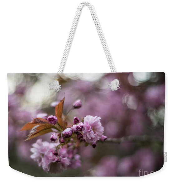 Cherry Blossom Storm Weekender Tote Bag