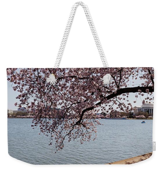 Cherry Blossom Trees With The Jefferson Weekender Tote Bag