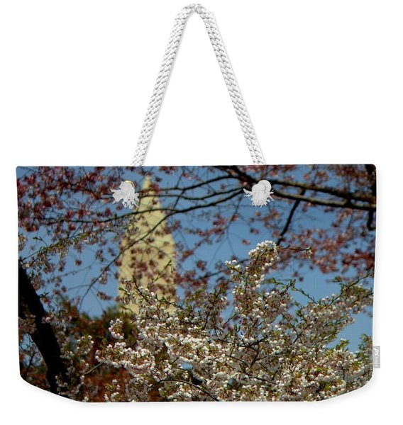 Cherry Blossoms And The Monument Weekender Tote Bag