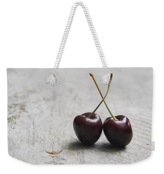 Cherry Duo Weekender Tote Bag