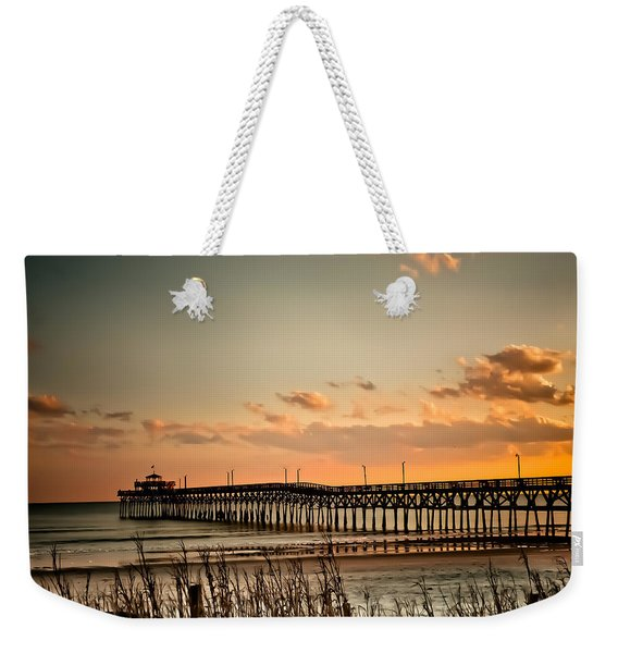 Cherry Grove Pier Myrtle Beach Sc Weekender Tote Bag