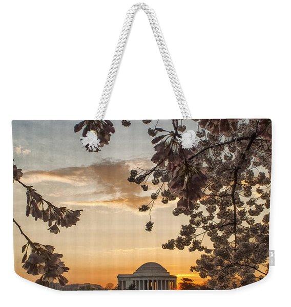 Cherry Sunrise Burst Weekender Tote Bag