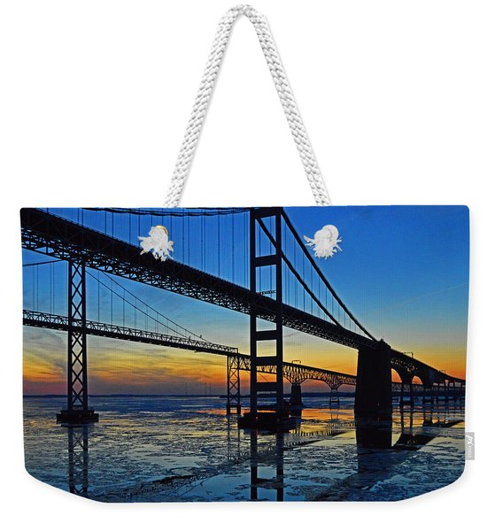 Chesapeake Bay Bridge Reflections Weekender Tote Bag