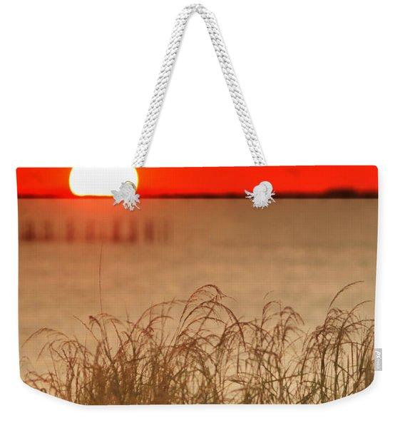 Chesapeake Sunset Weekender Tote Bag