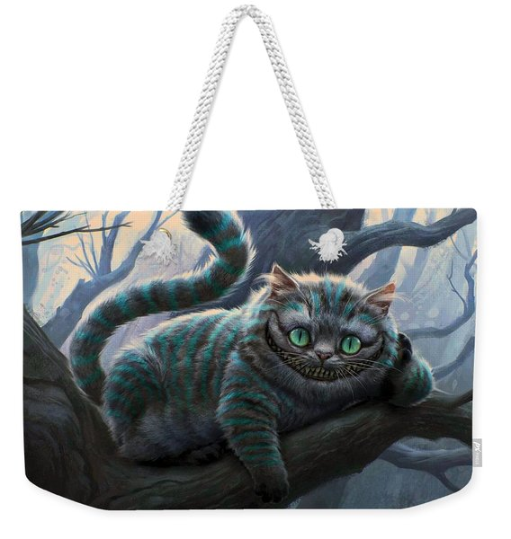 Cheshire Cat Weekender Tote Bag