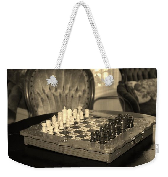 Chess Game Weekender Tote Bag