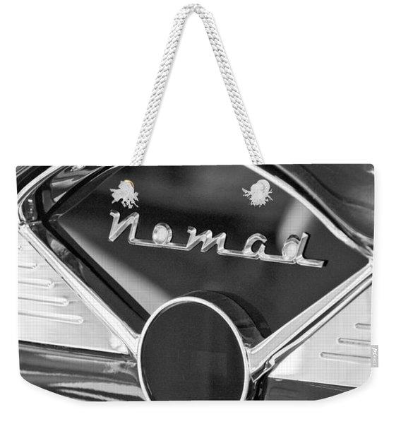 Chevrolet Belair Nomad Dashboard Emblem Weekender Tote Bag