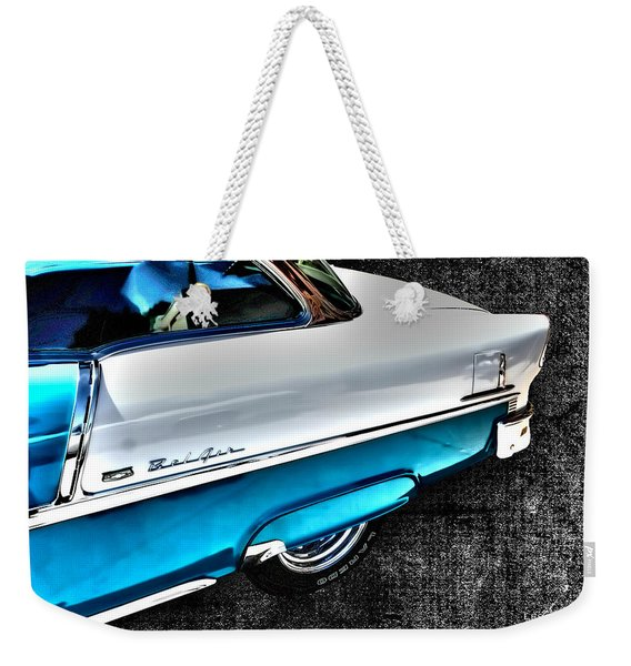 Chevy Bel Air Art 2 Tone Side View Art 1 Weekender Tote Bag