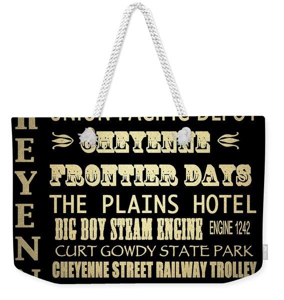 Cheyenne Famous Landmarks Weekender Tote Bag