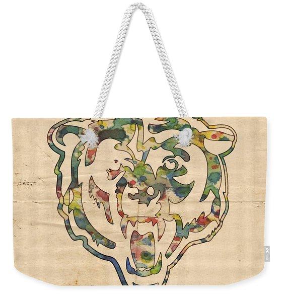 Chicago Bears Logo Art Weekender Tote Bag