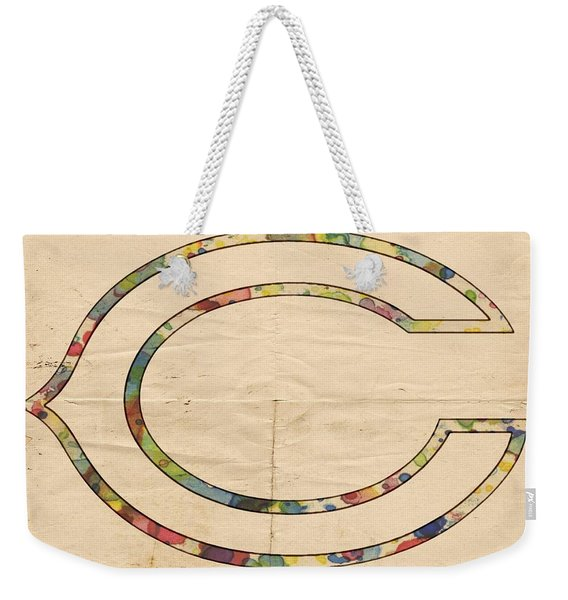 Chicago Bears Logo Vintage Weekender Tote Bag