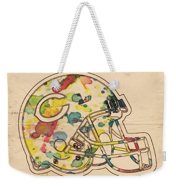 Chicago Bears Poster Art Weekender Tote Bag