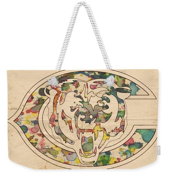 Chicago Bears Poster Vintage Weekender Tote Bag