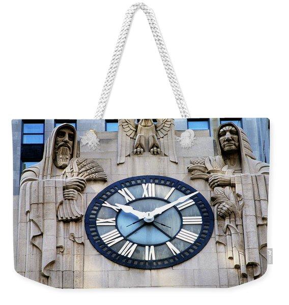 Chicago Board Of Trade Building Clock Weekender Tote Bag