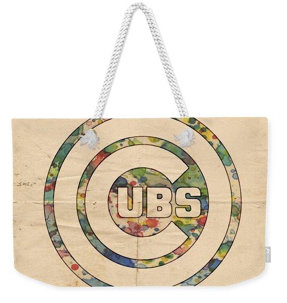 Chicago Cubs Vintage Logo Weekender Tote Bag
