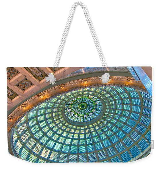 Chicago Cultural Center Tiffany Dome Weekender Tote Bag