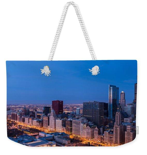 Chicago Dawn Weekender Tote Bag