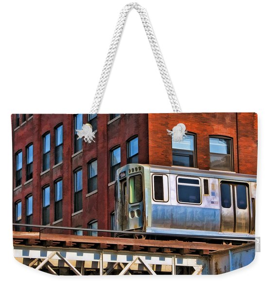 Chicago El And Warehouse Weekender Tote Bag